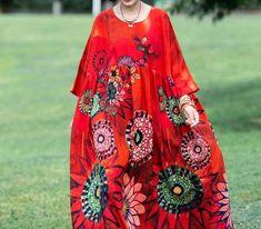 Women Cotton Maxi dress, oversized dress, womens Summer long dreses, long robe, plus size Dresses