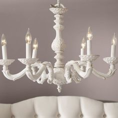 Chandelier redo i think i might do this to that chandelier from spray paont my old chandelier white perfect above the foyer or dining table aloadofball Images