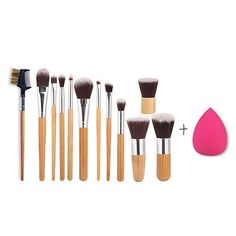 14.34$  Watch here - http://diido.justgood.pw/go.php?t=201793901 - 12 Pcs Makeup Brushes Set with Teardrop Beauty Blender 14.34$