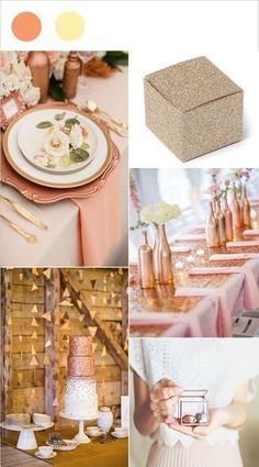 Si vous manquez d'idées de couleurs pour votre mariage, succombez à la tendance pour 2017 : le cuivre. On aime sa teinte rose mordorée qui créera une décoration de mariage éclatante. Vous pourrez le combiner avec différentes couleurs : de l'ivoire, du...