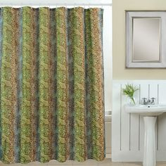 Wildlife 13 Piece Printed Shower Curtain Set