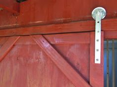 A barn door is so practical. It slides open and closed, stays put, and is never in the way. But have you ever priced the hardware for one...