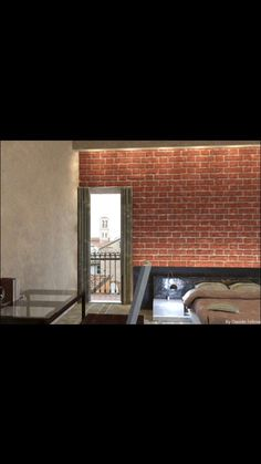 Room idea of ​​redevelopment in Ferrara - render - render photorealistic