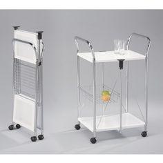 Baxton Studio Watkins Steel Foldable Serving Trolley Cart