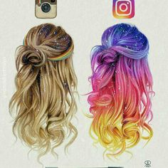 Sizce eskisi mi yenisi mi People Art, Hair Drawings, Drawing Hair, How To Draw Hair, Sketches, Creative, Hair Styles, Coloured Hair, Instagram Posts