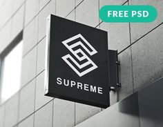 Free Hanging Wall Sign Mockup http://www.mintmockups.com/hanging-wall-sign-mockup-1