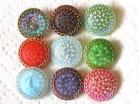 Lovely lovely Czech glass buttons...yum.