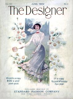 June 1902 fashion on the cover of 'The Designer' magazine.