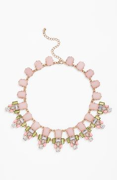 This blushing statement necklace is feminine, chic and simply enchanting.