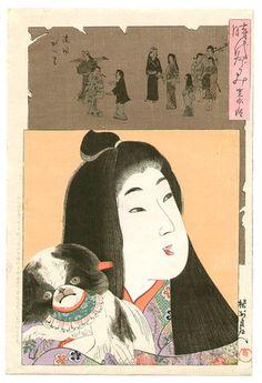 Toyohara Chikanobu: Kanei - Jidai Kagami - Artelino