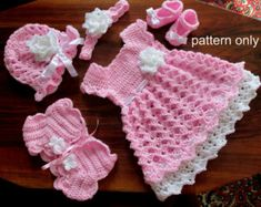 Crochet pattern toddler dress little girl dress pattern