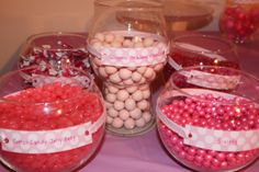 PINK 1st Birthday: Pink Candy Buffet