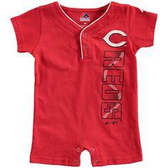Newborn Cincinnati Reds Majestic Red Baseball Romper