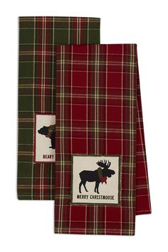 Beary Christmoose Holiday Embellished Dishtowel - Set of 2 on @HauteLook