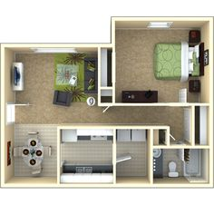 1 bedroom   1 bath   700 sq ft    Details: A GREAT home waiting just for you!    Description: This apartment home features a huge bedroom AND washer and dryer connections! Come and check out your new place.