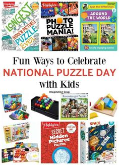 6 Ways to Celebrate National Puzzle Day with Kids Learning Games For Kids, Activities For Kids, Top Toys For Girls, World Puzzle, Picture Puzzles, Puzzle Books, Family Game Night, Puzzles For Kids, When I Grow Up
