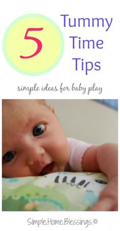 5 tips for tummy time with baby