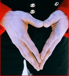MICHAEL JACKSON'S HANDS IN THE SHAPE OF A HEART