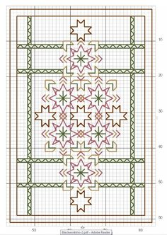 blackwork, part 1 ... no color chart available, just use pattern chart as your color guide.. or choose your own colors...