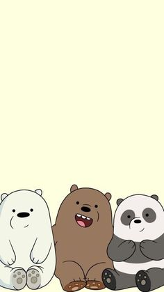 Discovered by moonchild. Find images and videos about pastel, cartoon and we bear bears on We Heart It - the app to get lost in what you love. Funny Phone Wallpaper, Disney Phone Wallpaper, Bear Wallpaper, Kawaii Wallpaper, Cute Wallpaper Backgrounds, We Bare Bears Wallpapers, Panda Wallpapers, Cute Cartoon Wallpapers, Bear Tumblr