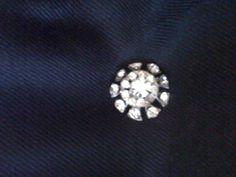 Round Burst Rhinestone Pin