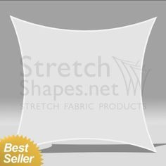 5' x 5' Stretch Square 4-Point-Shape-1 White - Instant Dispatch - Stretch Shapes