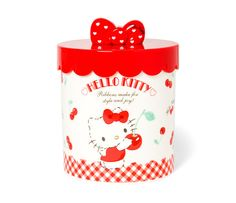 Store everything you need with the Hello Kitty Storage Canister! Plastic Canisters, Storage Canisters, Kawai Japan, Hello Kitty Kitchen, Hello Kitty Characters, Kawaii Gifts, How To Make Ribbon, Sanrio Hello Kitty, Bow Hair Clips