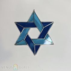 Jewish Star of David Stained Glass Window Suncatcher Jewish Wedding Gift Blue Star Sun CatcherThanks bibischlafmuetz for this post.The Star of David is an emblem of both Israel and Judaism, and you'll find it everywhere from synagogue doors t# Blue Stained Glass Ornaments, Making Stained Glass, Stained Glass Christmas, Stained Glass Suncatchers, Stained Glass Designs, Stained Glass Projects, Stained Glass Panels, Stained Glass Patterns, Stained Glass Art