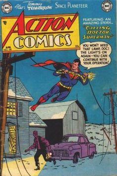 Cover for Action Comics April 1954 Old Superman, Superman Action Comics, Marvel Comics Superheroes, Superman Man Of Steel, Superman Comic, Superman Stuff, Superman Family, Batman, Dc Comic Books