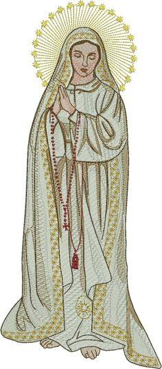 Ponchado Virgen De Fatima 31 Cm X 14 Cm Cualquier Formato - $ 90.00 en MercadoLibre