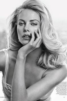 Charlize in British Vogue http://bit.ly/Hrakc4  Hair by Enzo Angileri for Cloutier Remix