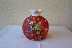 Decorative pomegranate - OOAK polymer clay over ceramic - gift idea by tamarozenpolymerclay on Etsy https://www.etsy.com/listing/493283389/decorative-pomegranate-ooak-polymer-clay