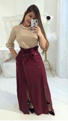 Modest Fashion Hijab Fashion Fashion Outfits Womens Fashion Blouse And Skirt Dress Skirt Skirt Outfits Cute Outfits Beautiful Outfits Modest Outfits, Skirt Outfits, Modest Fashion, Hijab Fashion, Dress Skirt, Casual Dresses, Fashion Outfits, Trend Fashion, Look Fashion
