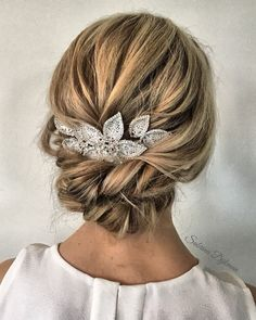 updo braided updo hairstyle ,swept back bridal hairstyle ,updo hairstyles ,wedding hairstyles Amazing updo hairstyle with the wow factor. Finding just the right wedding hair for your wedding day is no small task but we're about. Bridal Hairstyles With Braids, Bridal Braids, Wedding Braids, Braided Hairstyles Updo, Bridal Updo, Bride Hairstyles, Hairstyle Ideas, Hair Ideas, Hairstyle Wedding