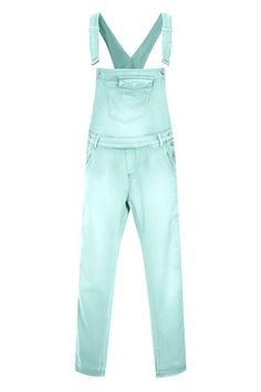 db0e4eab8de Mint Green Dungaree Shorts in slightly stretchy soft denim with ...