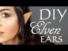 DIY: How to make Elven/Elf Ears - YouTube