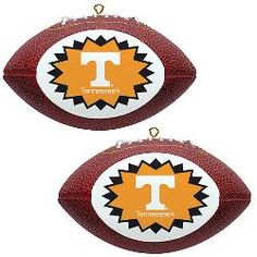 Topperscot Tennessee Volunteers Two Mini Replica Football Ornaments