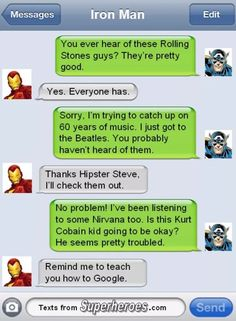 Hipter Steve is listed (or ranked) 17 on the list The Best Texts from Superheroes