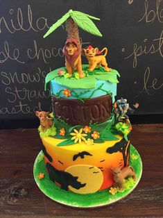 zeppiedoess decorated lion king birthday cake zeppiedoess for my year old kids party ideas for lion king birthday cake my year old.jpg