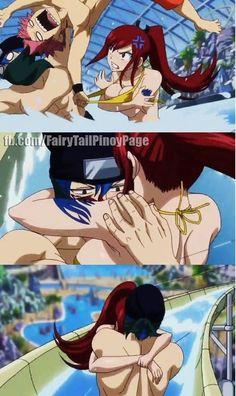 "Fairy Tail OVA (OVA 5 Exciting Ryuzetsu Land) ""So we're a pair now huh?"" -Erza ""I guess. Fairy Tail Love, Fairy Tail Ships, Fairy Tail Anime, Erza Y Jellal, Jerza, Fairytail, Gajevy, Got Anime, Anime Love"