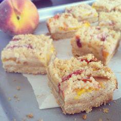 Peach Custard Crumble Bars