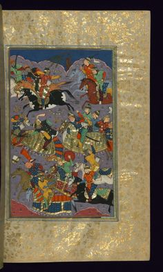 Alexander the Great Fighting the Ethiopians 1528 Isfahan