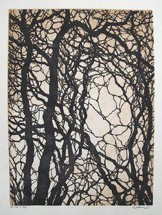 Tree No 17 Hand Pulled Fine Art Woodblock Print