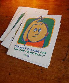 unique funky wacky whimsical greeting cards with funny by HUHzzz