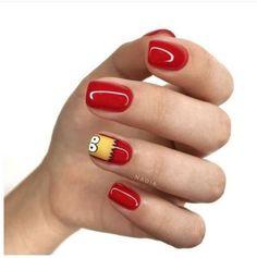 New nail art ideas classy red ideas Cute Acrylic Nails, Cute Nails, Pretty Nails, My Nails, Nail Art Designs, Pedicure Designs, Nail Art Halloween, Classy Nails, Dream Nails