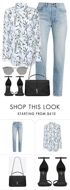 """Untitled #3060"" by elenaday on Polyvore featuring Yves Saint Laurent, Equipment and Linda Farrow"