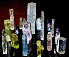 Some Beryls, Some Tourmalines and Amethysts. by Orbital Joe