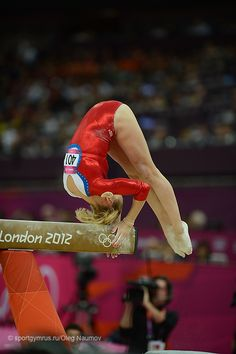 Ksenia Afanasyeva (Russia) on balance beam at the 2012 London Olympics