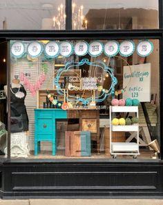 Boutique Window Displays, Window Display Retail, Retail Windows, Store Windows, Bakery Window Display, Merchandising Displays, Store Displays, Retail Displays, Handmade Shop