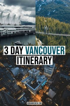 This perfect 3 days in Vancouver itinerary to help you plan your trip to one of the most amazing destinations in British Columbia from activities to food. Vancouver Travel, Vancouver British Columbia, Downtown Vancouver, Attractions In Vancouver, Vancouver Skyline, Travel Photography Tumblr, Photography Beach, Vancouver Photography, Canada Travel
